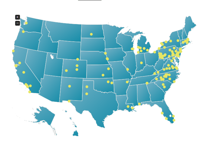 Is PACE For You National PACE Association - Map of physician assistant programs in us