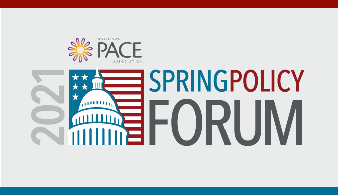 2021 Spring Policy Forum logo overlaid with the NPA logo